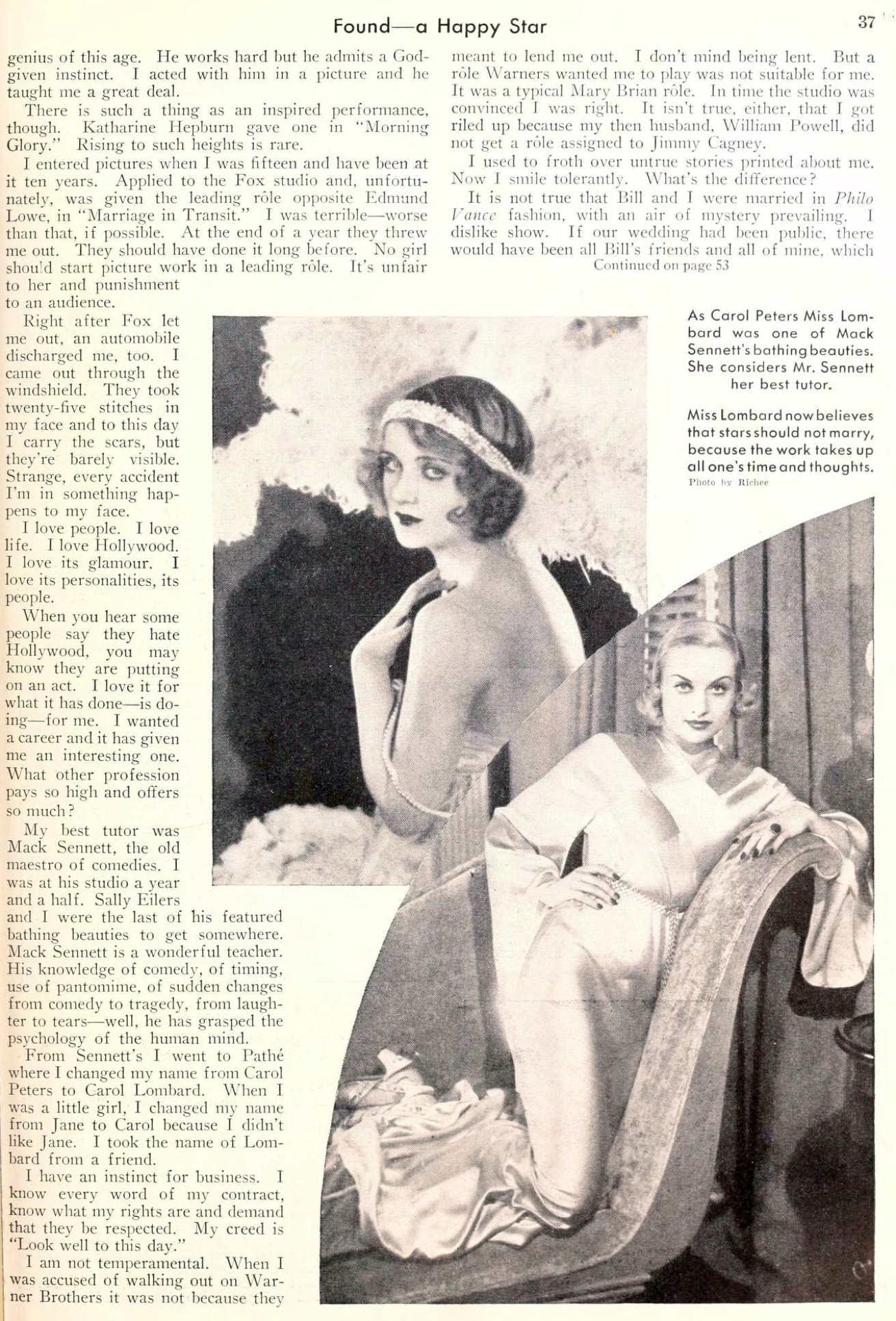 carole lombard picture play june 1934 found a happy star 01a