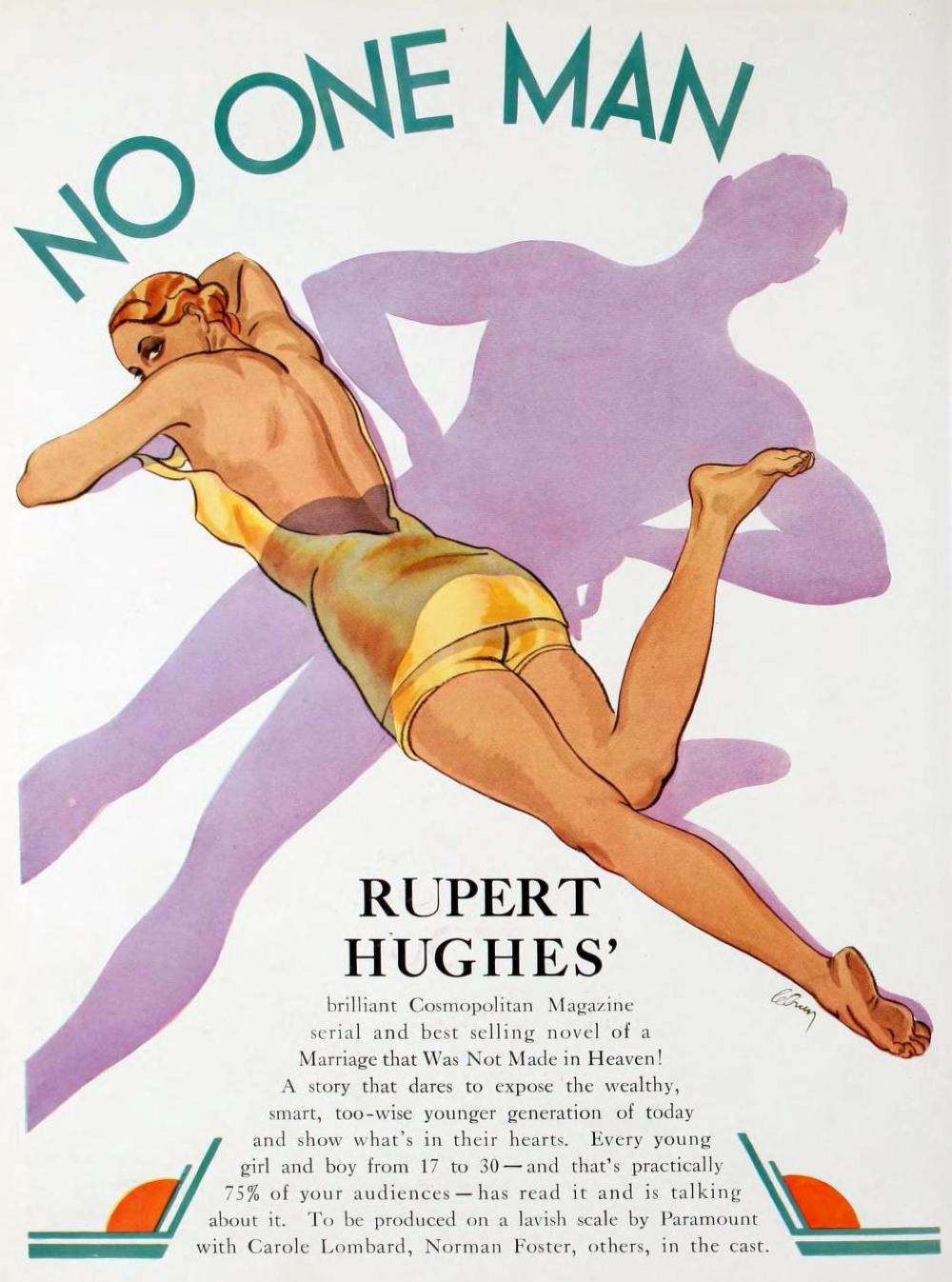 carole lombard no one man 1931-32 paramount pressbook 00a