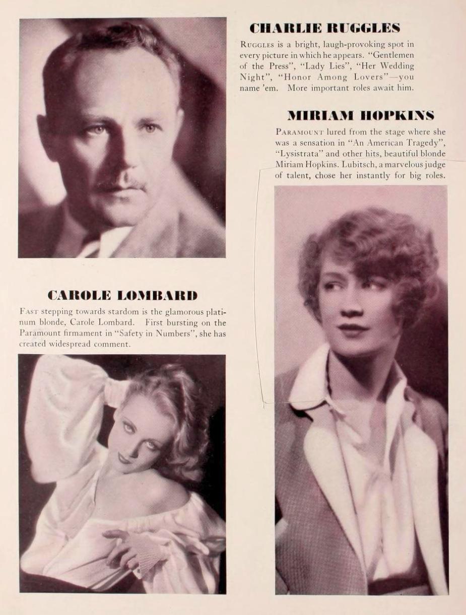 carole lombard 1931-32 paramount pressbook 00a