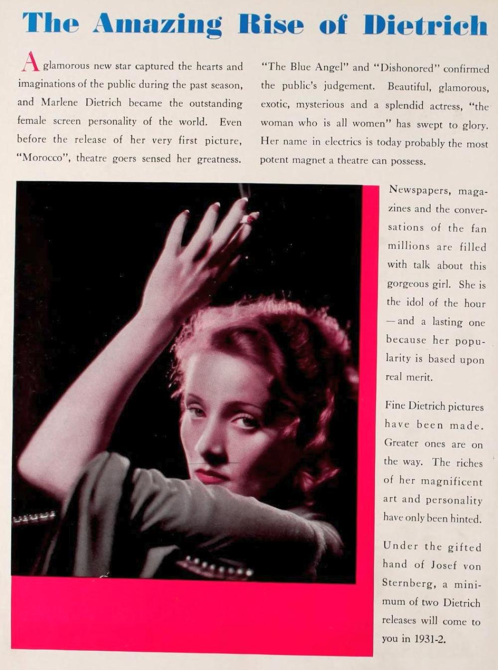 marlene dietrich 1931-32 paramount pressbook 02a
