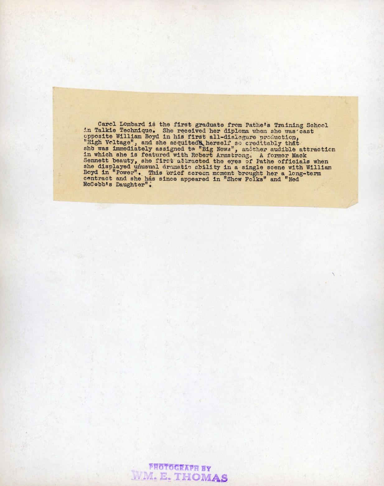 carole lombard william e. thomas 19a back