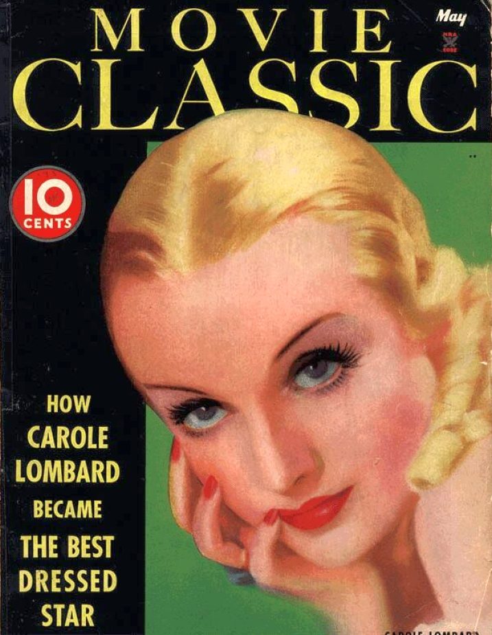 carole lombard movie classic may 1935 cover