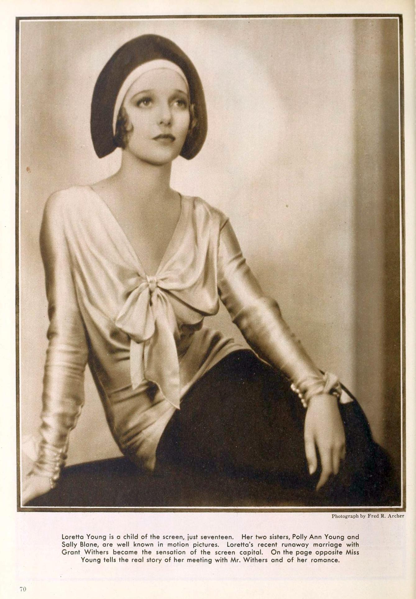 loretta young the new movie magazine april 1930a
