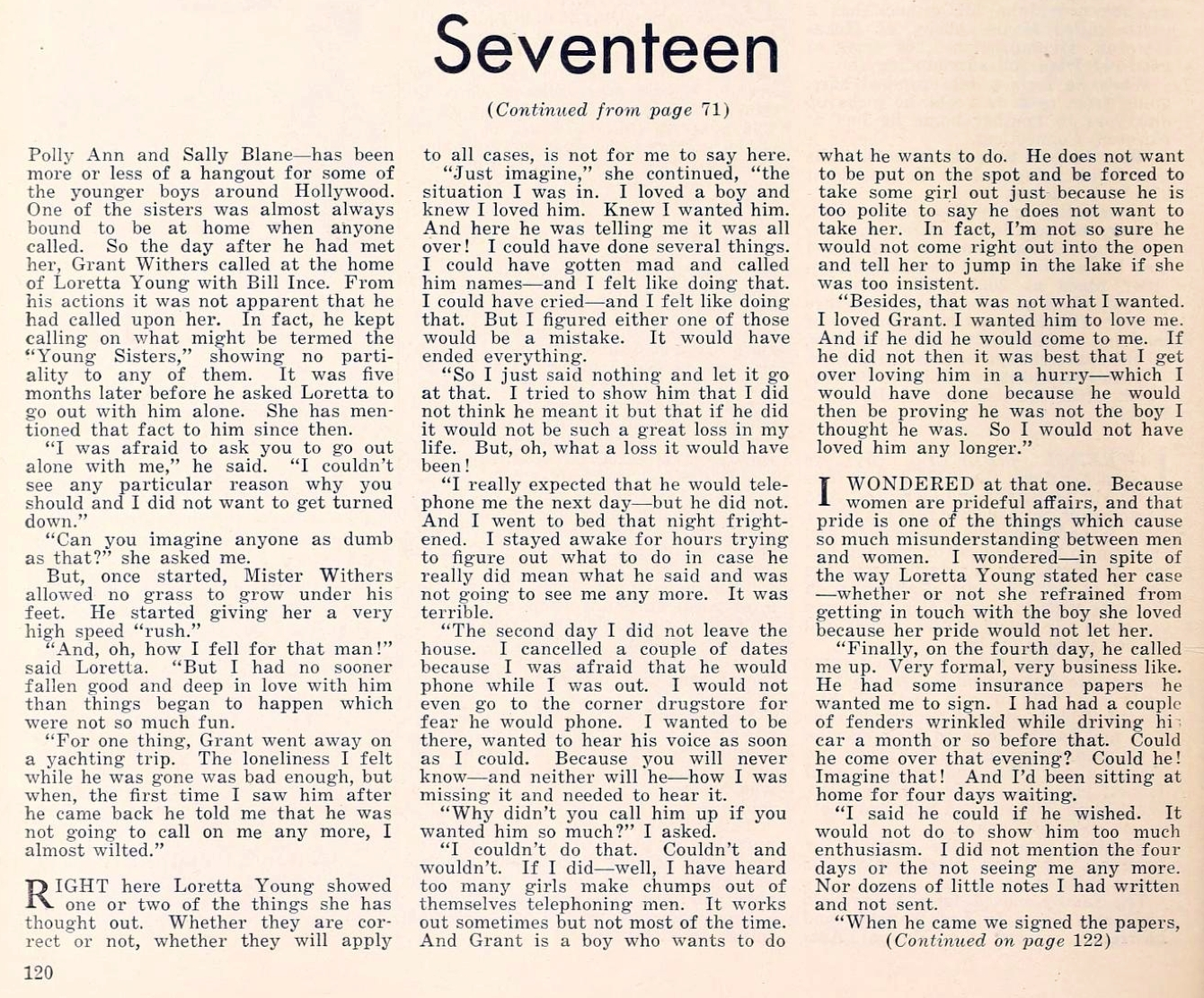 loretta young the new movie magazine april 1930 article 01a