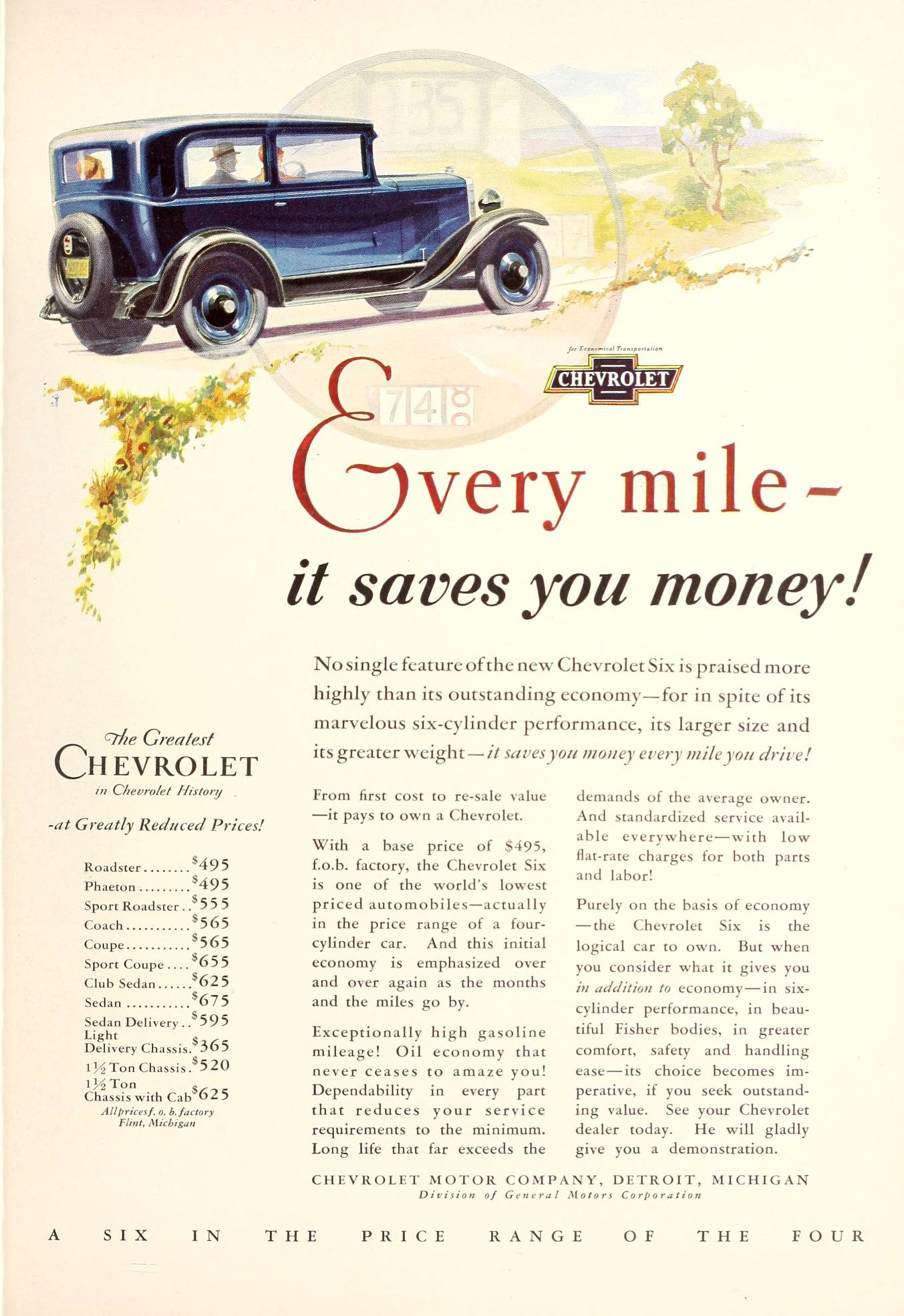 chevrolet ad the new movie magazine april 1930