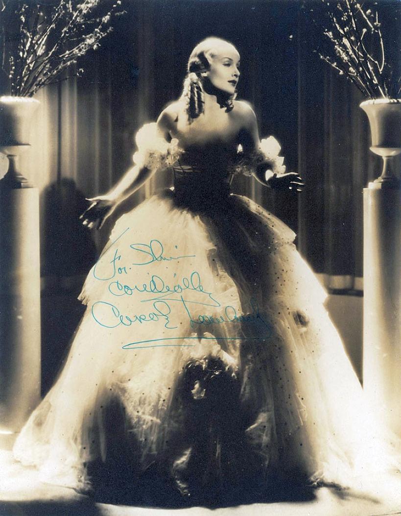 carole lombard autograph 78a