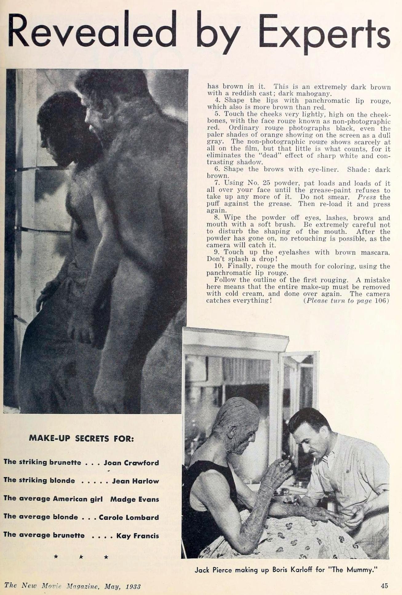 carole lombard the new movie magazine may 1933ba