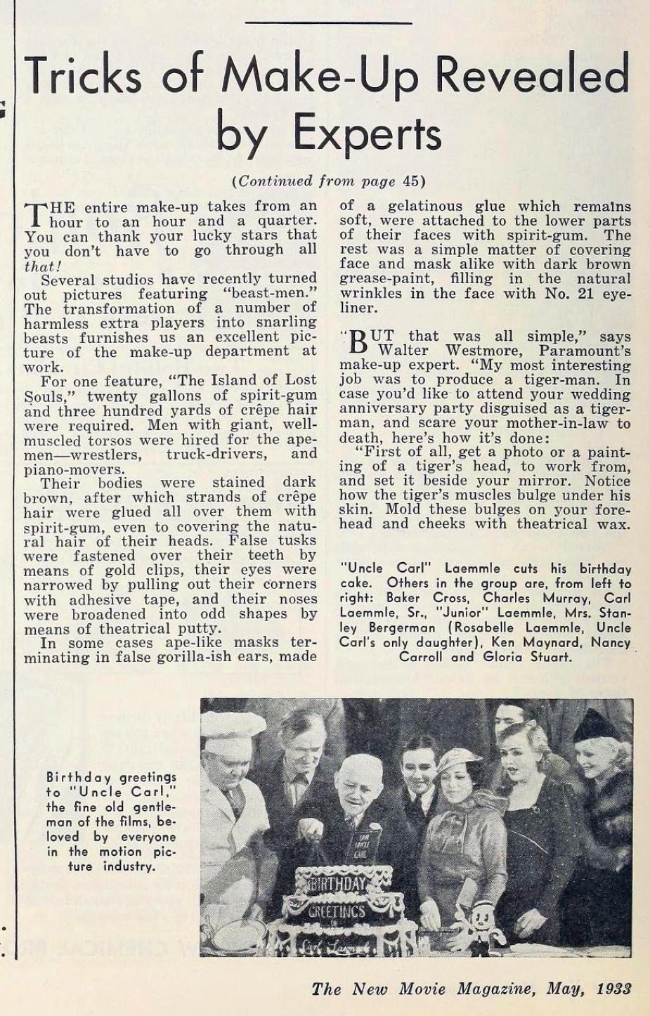 carole lombard the new movie magazine may 1933ca