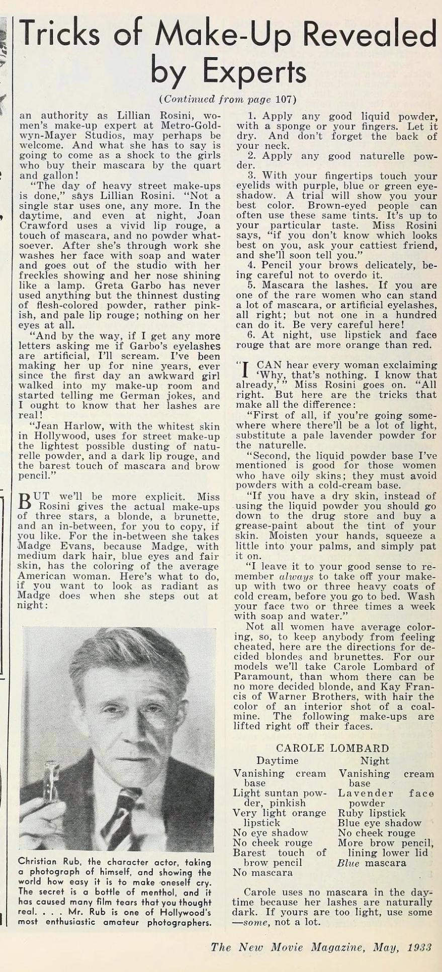 carole lombard the new movie magazine may 1933ea