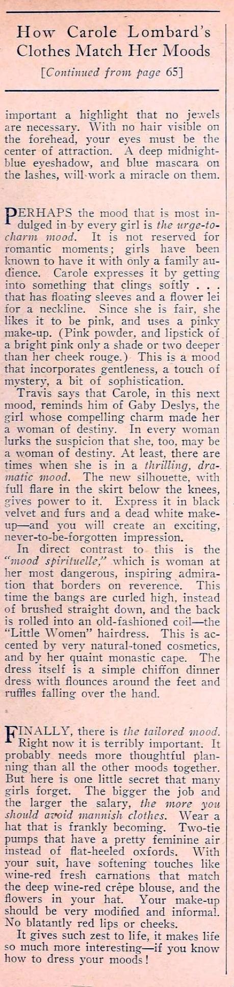 carole lombard movie classic september 1935ea