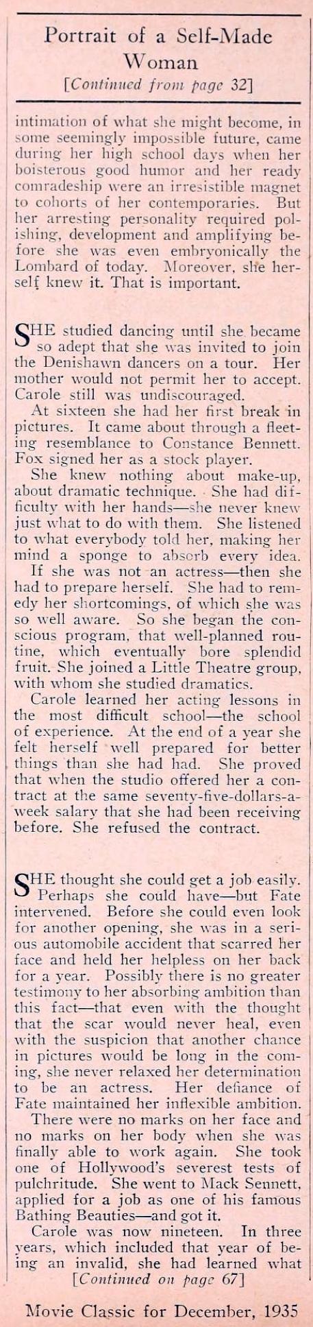 carole lombard movie classic december 1935ba