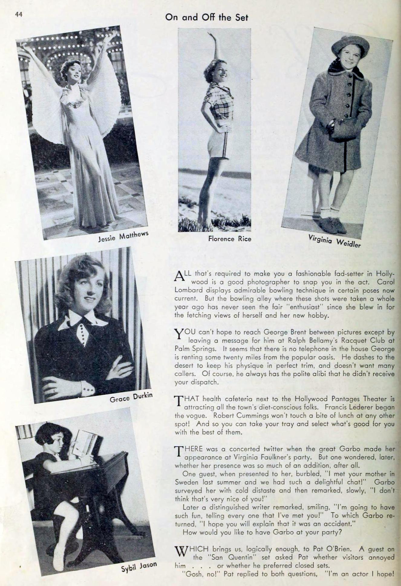 carole lombard picture play february 1937da