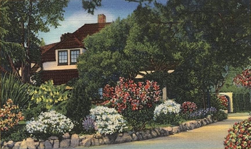 carole lombard bel air house postcard 00 large