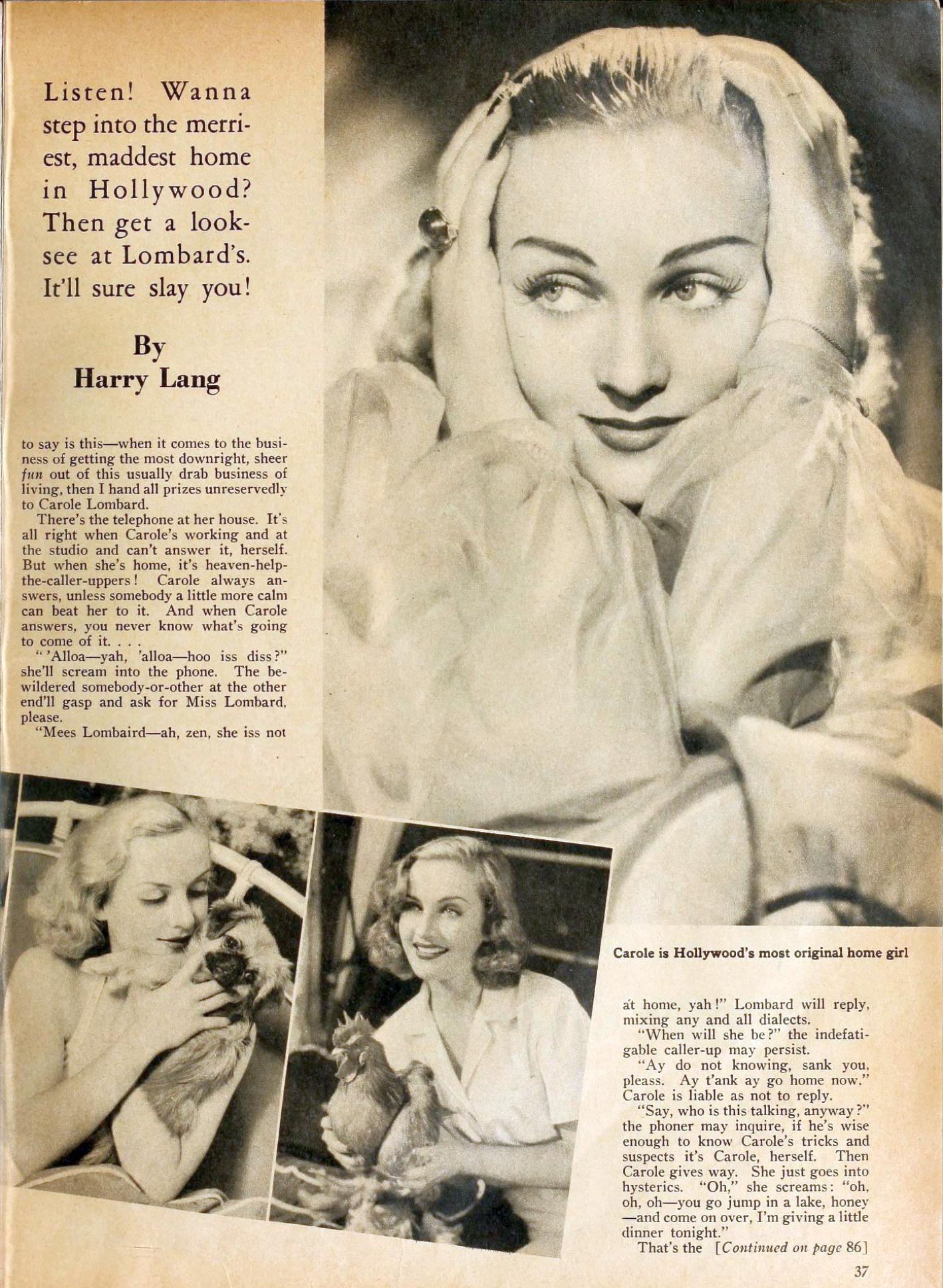 carole lombard motion picture february 1937ba