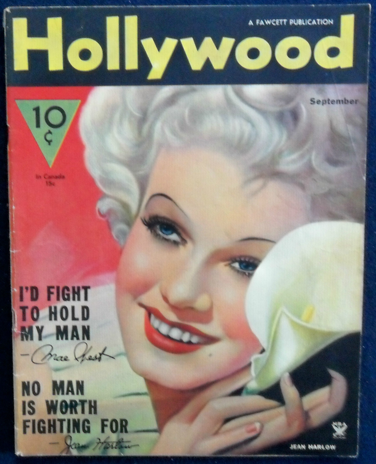 jean harlow hollywood magazine september 1934