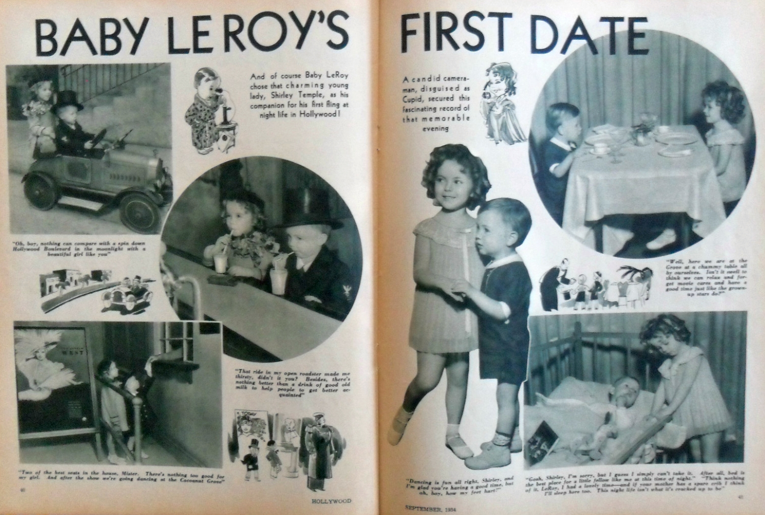 hollywood magazine september 1934a baby leroy shirley temple