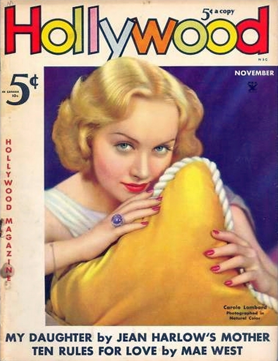 carole lombard hollywood november 1935 color