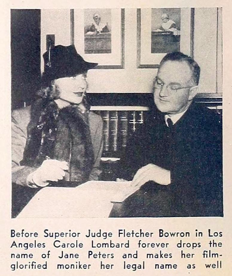 carole lombard hollywood february 1937 name change large