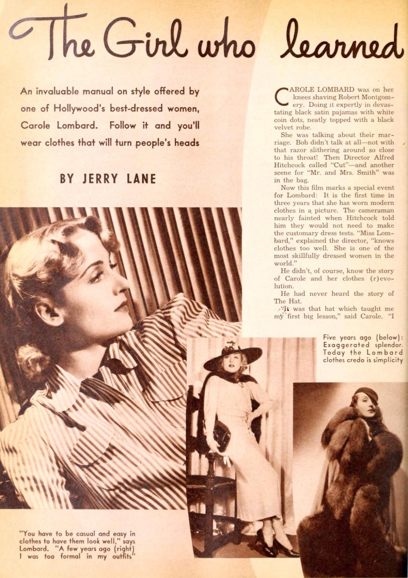 carole lombard photoplay february 1941aa