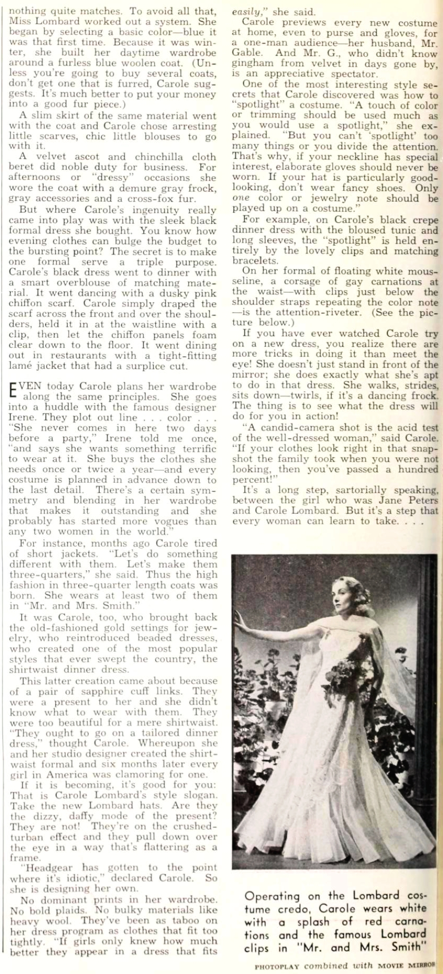 carole lombard photoplay february 1941da