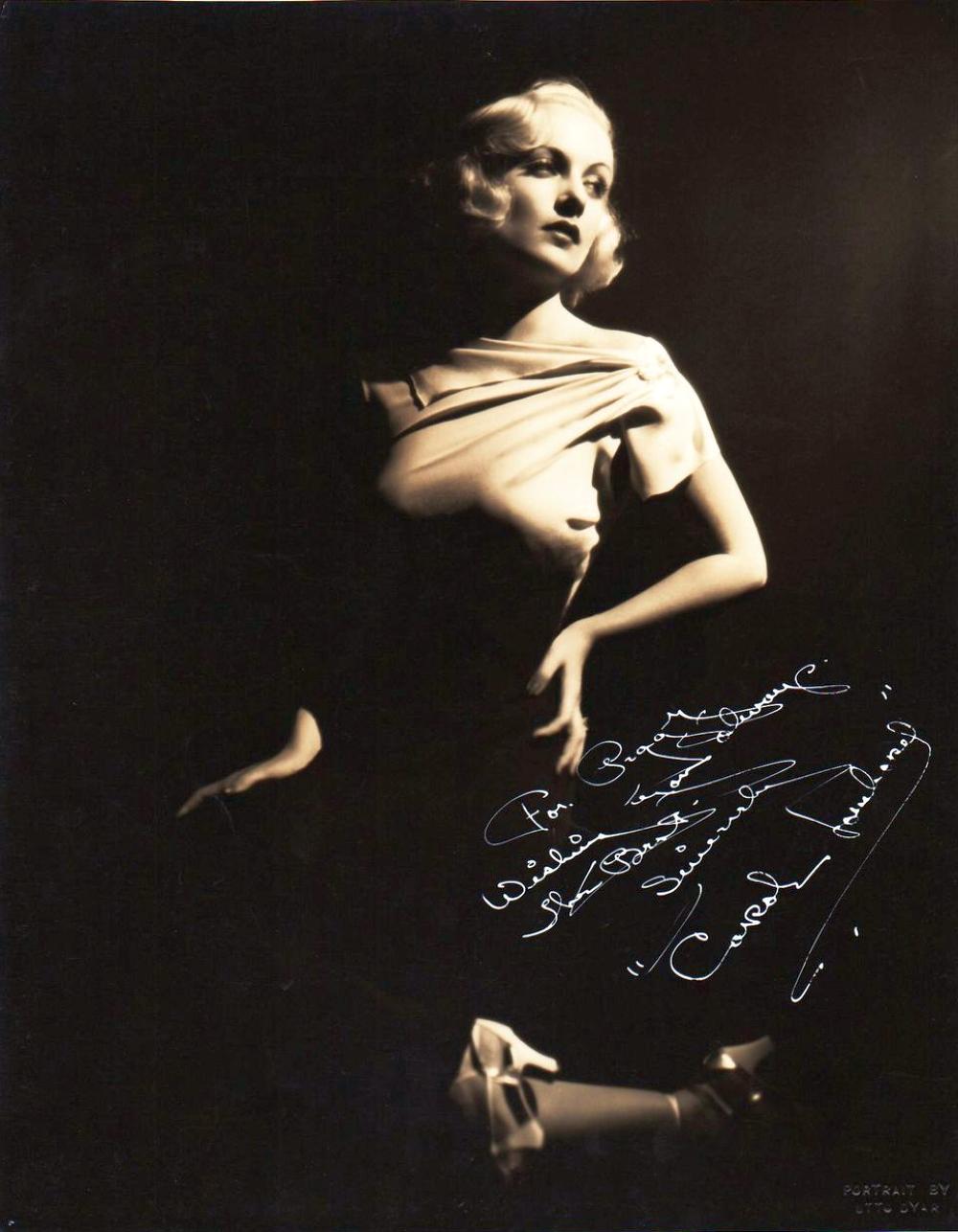 carole lombard autograph 81a front