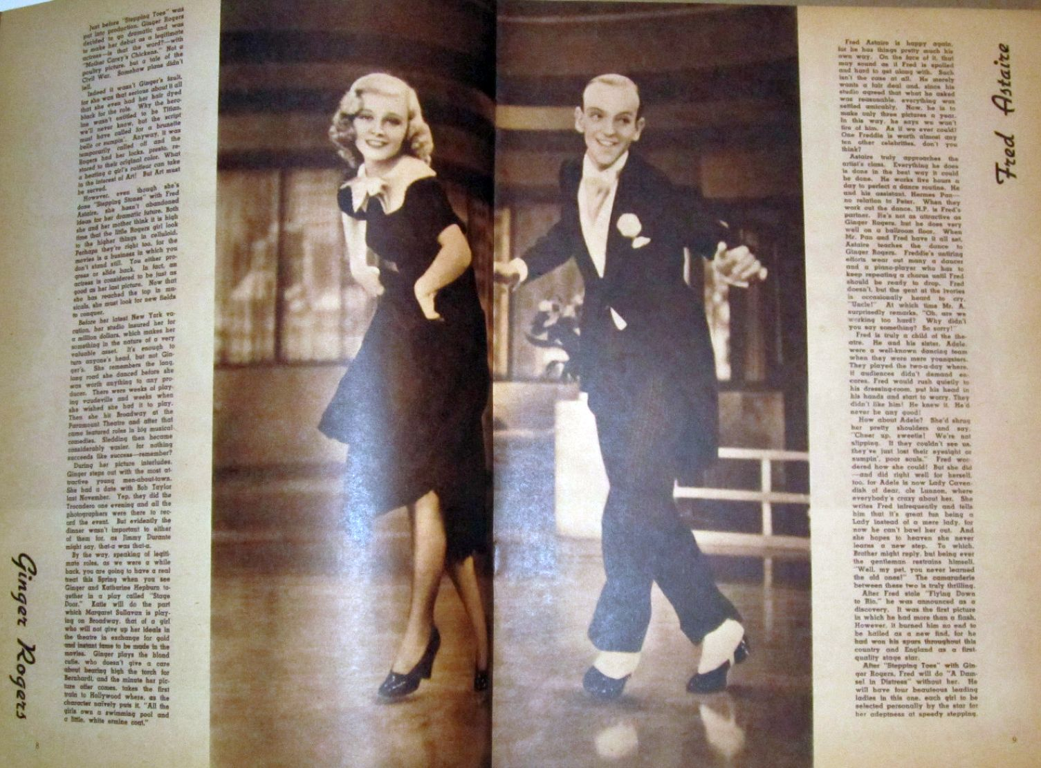 screen album for 1937 rogers astaire large