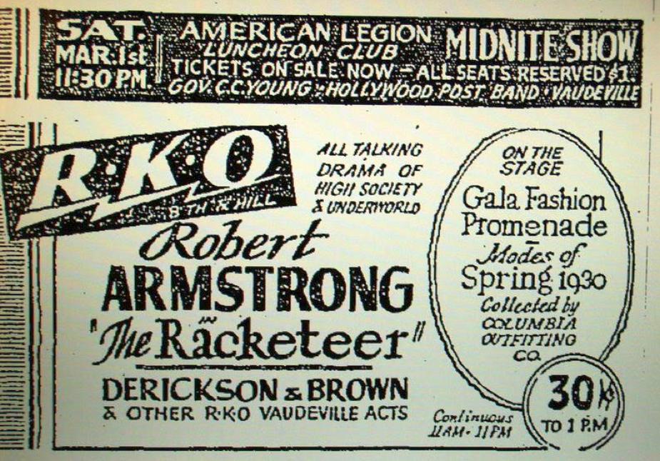 carole lombard the racketeer rko hillstreet los angeles feb 1930 large