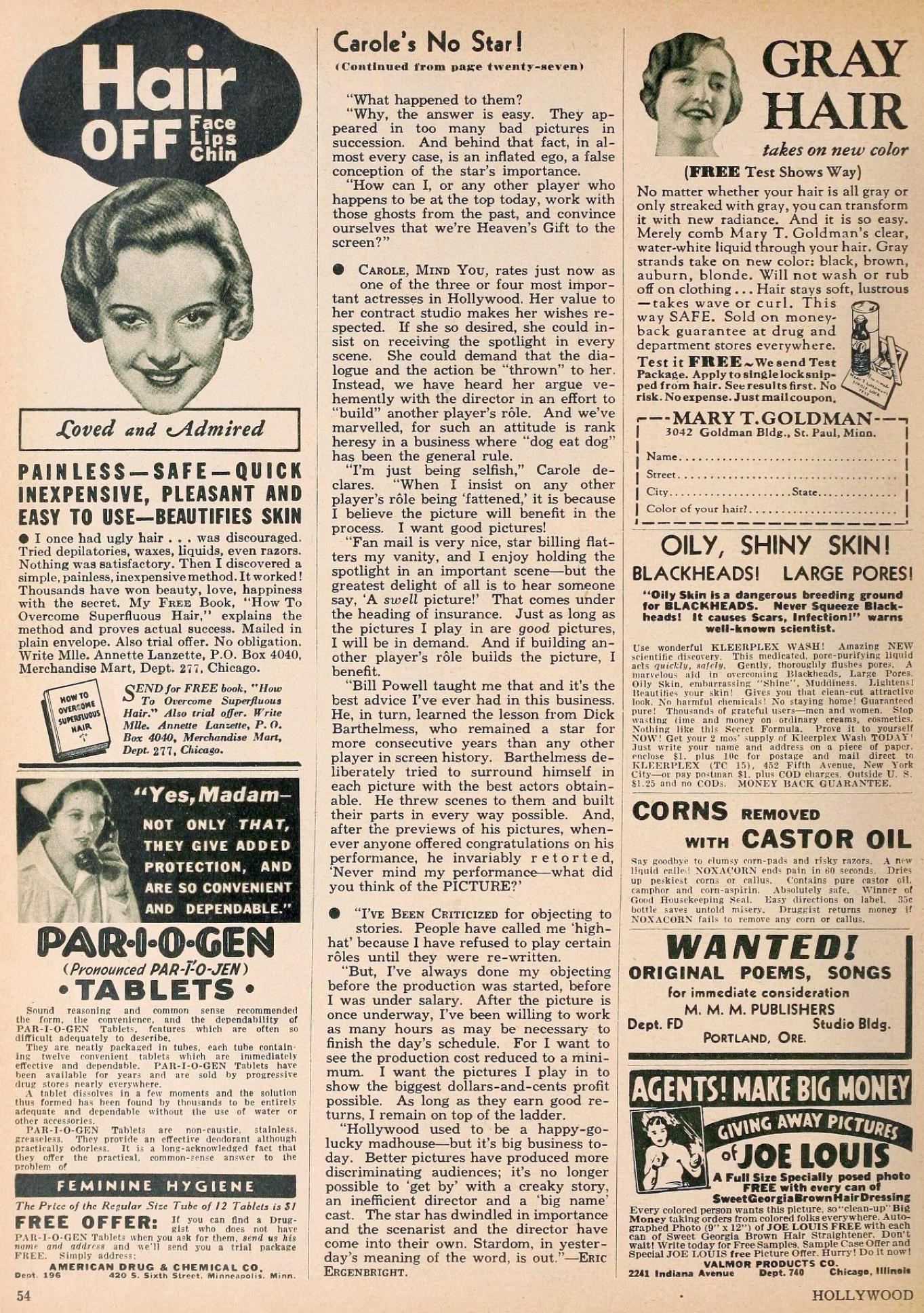 carole lombard hollywood june 1936ba