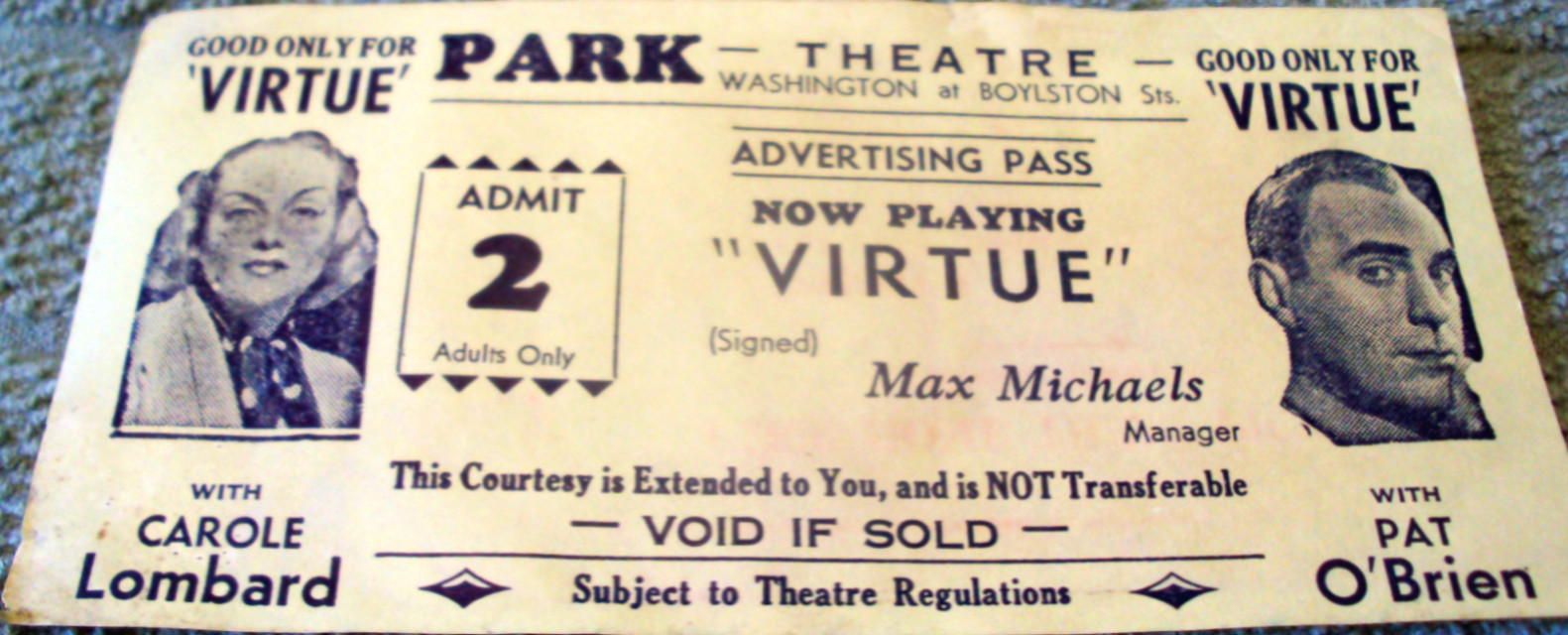 carole lombard virtue pass park theatre boston 00a