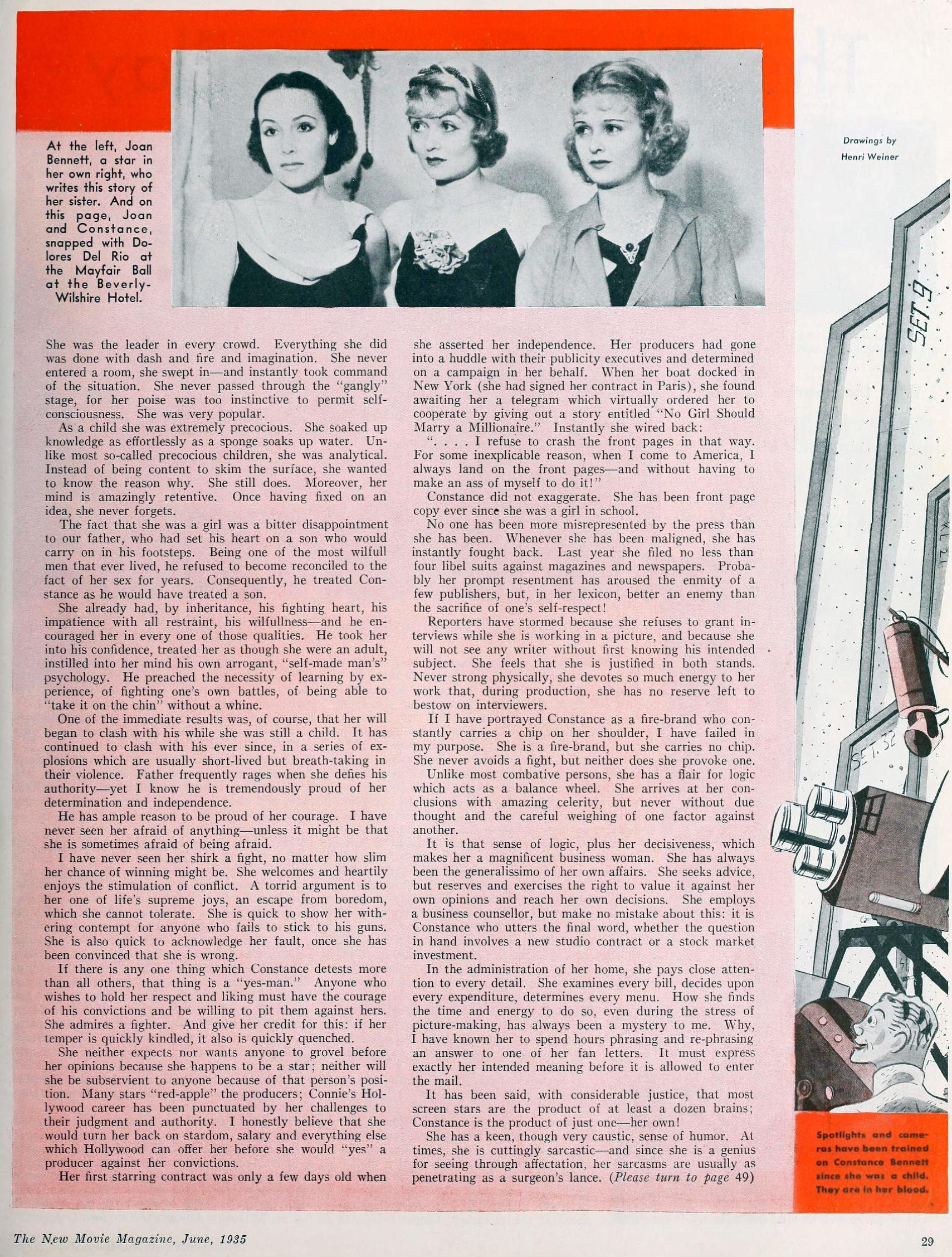 constance bennett  the new movie magazine june 1935ba
