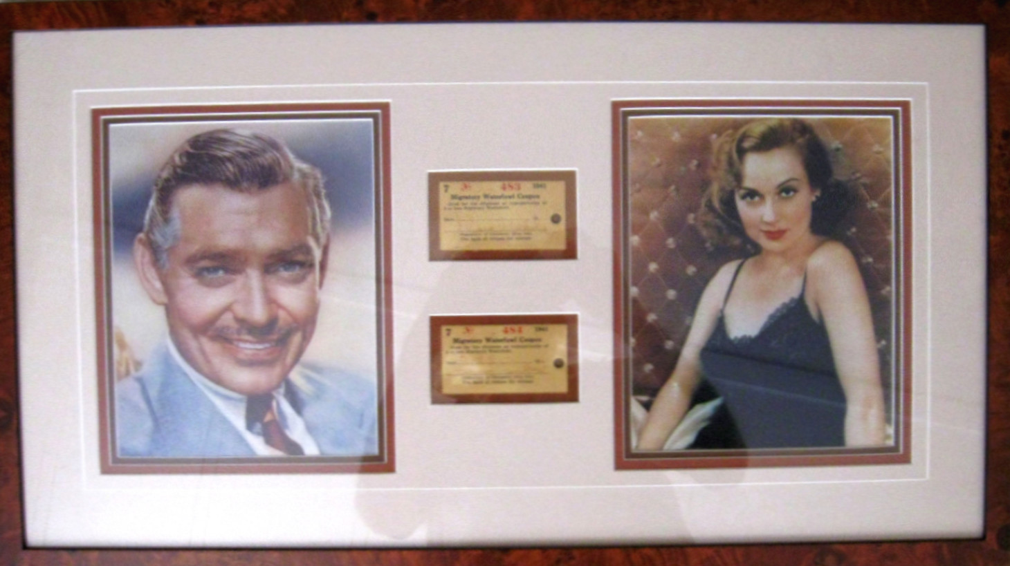 carole lombard clark gable 1941 waterfowl stamps 00a