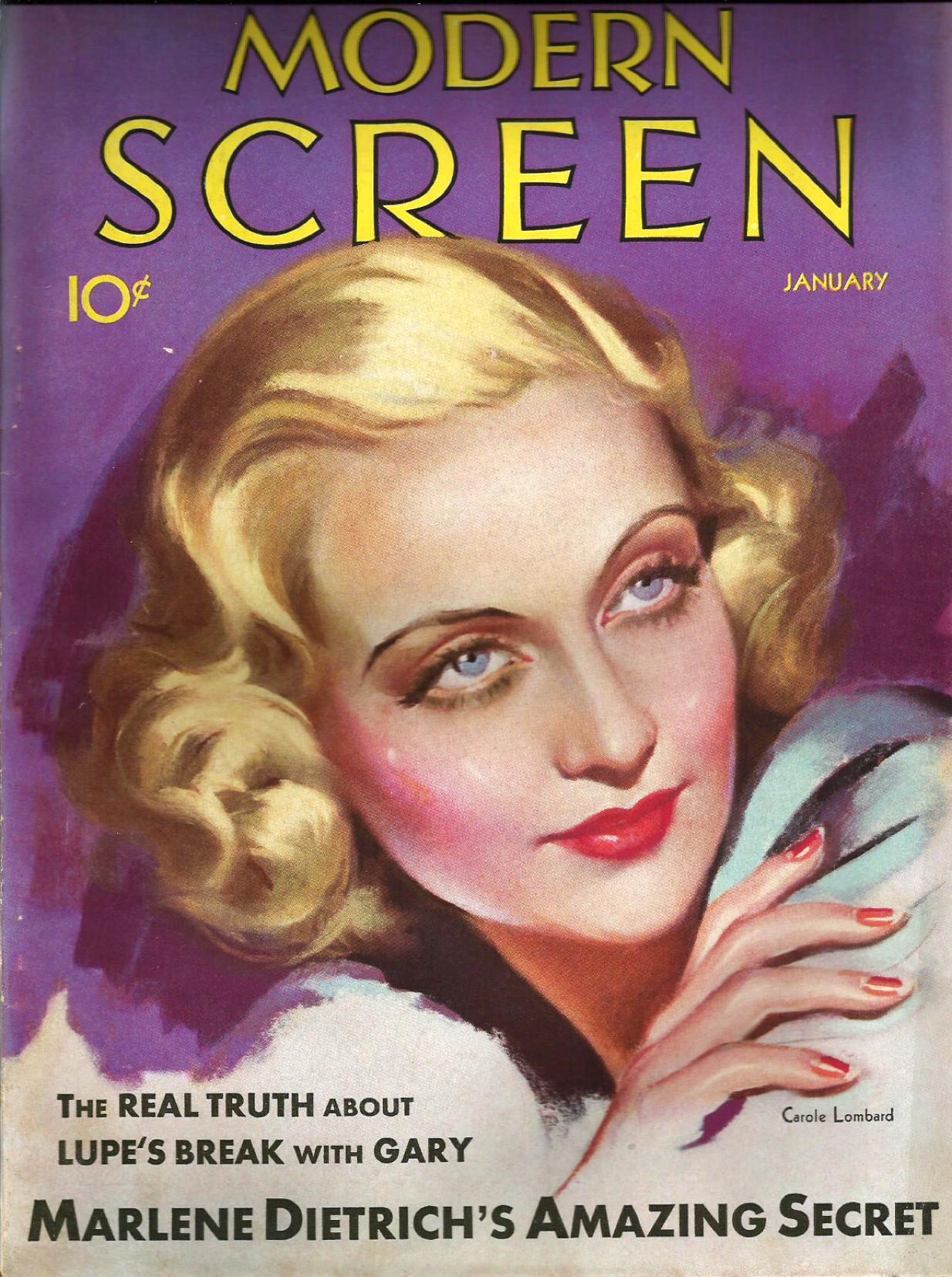 carole lombard modern screen january 1932a cover