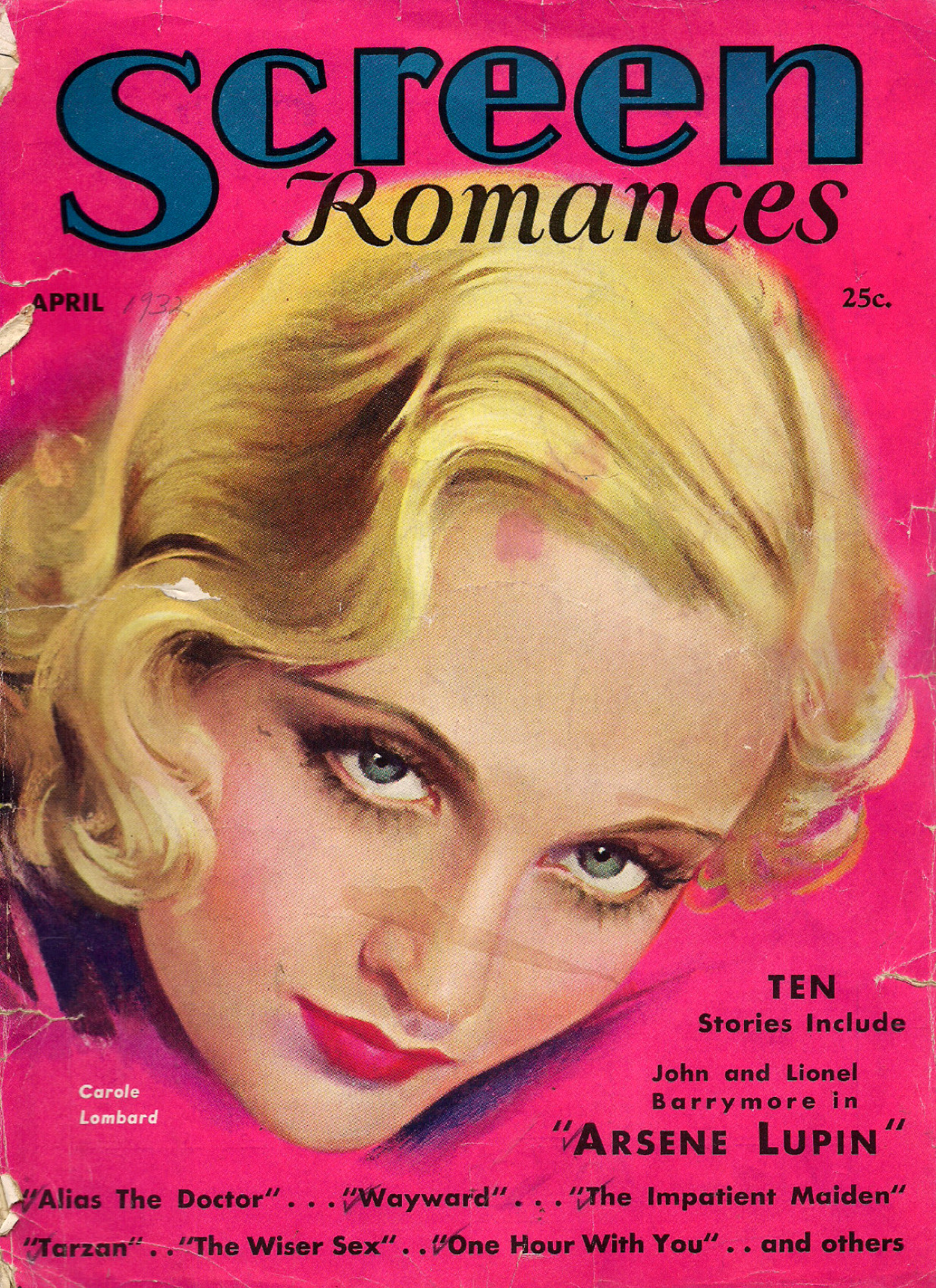 carole lombard screen romances april 1932 cover large