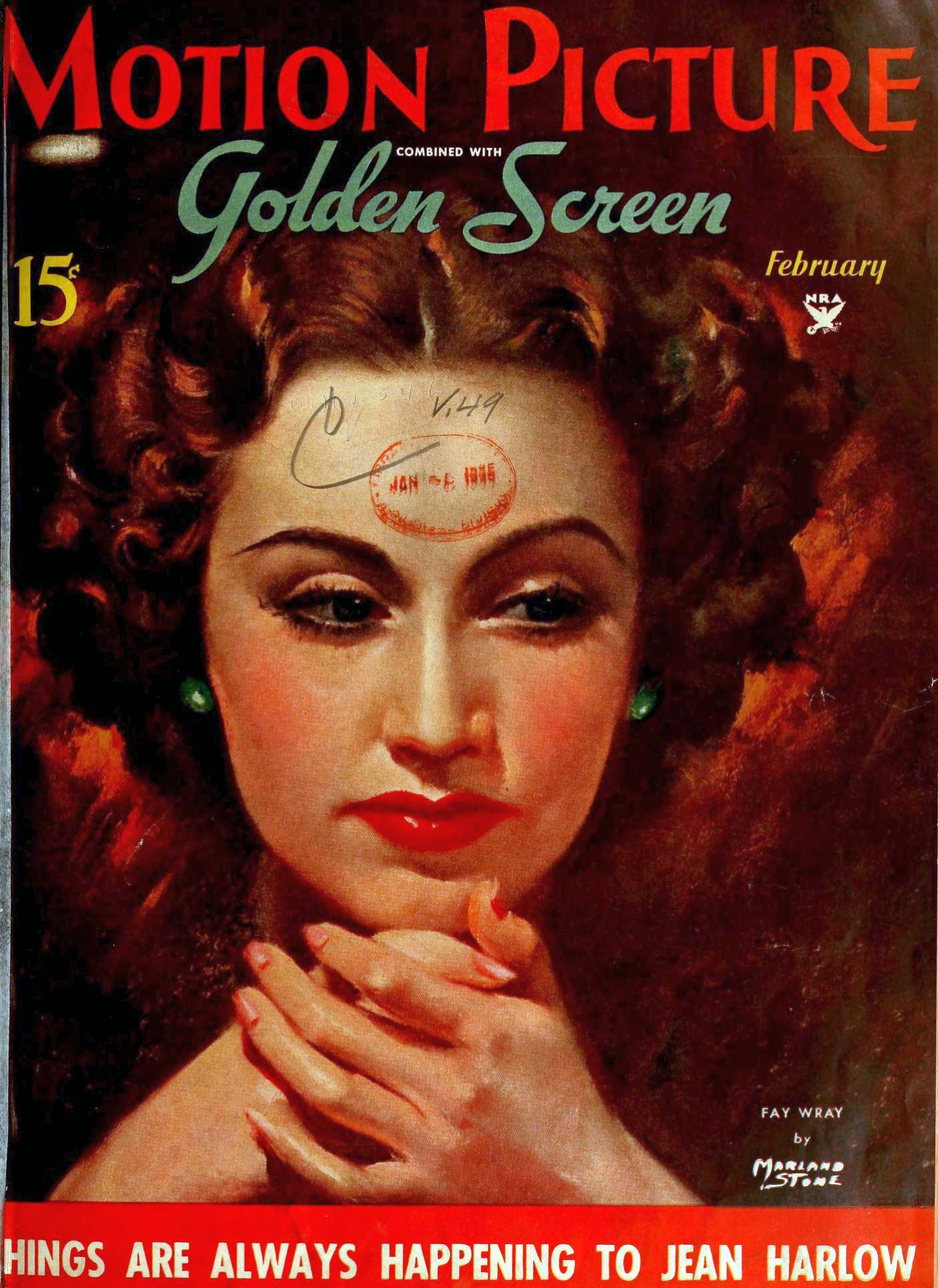 motion picture february 1935 fay wray cover large