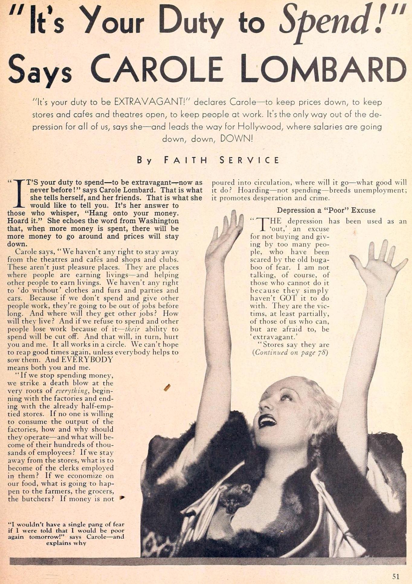 carole lombard movie classic may 1933ba