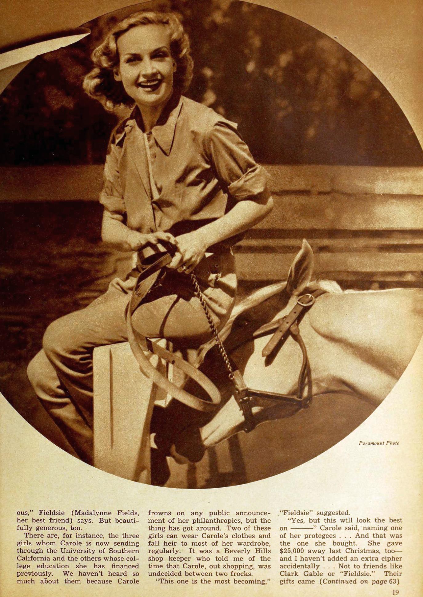 carole lombard radio mirror april 1939ba