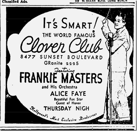 020635 clover club sunset boulevard