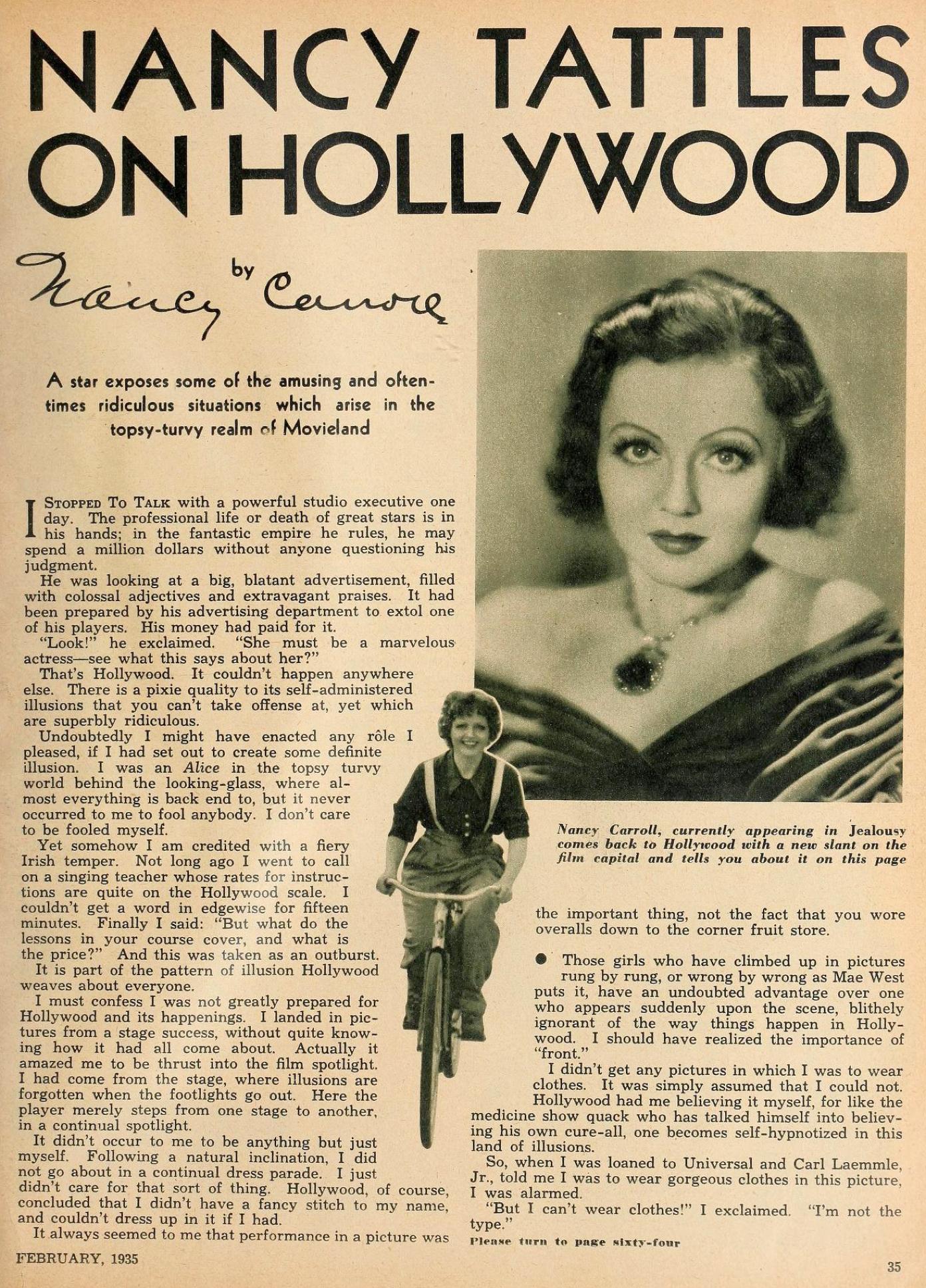 nancy carroll hollywood february 1935aa