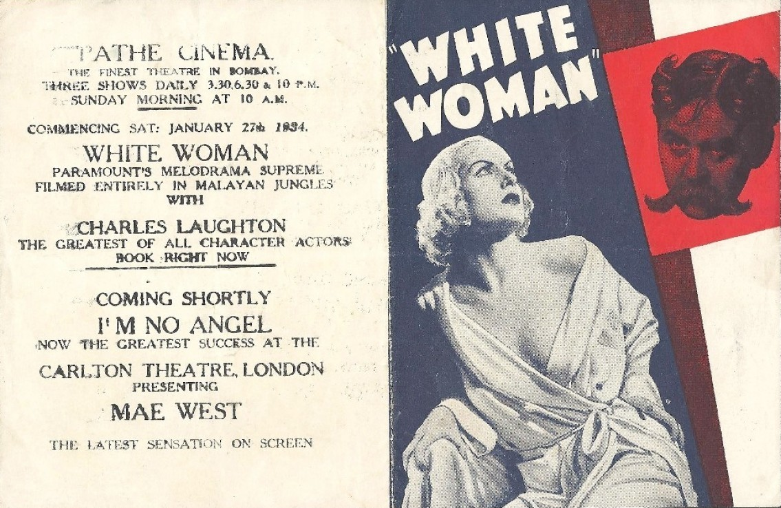 carole lombard white woman herald pathe cinema bombay front large