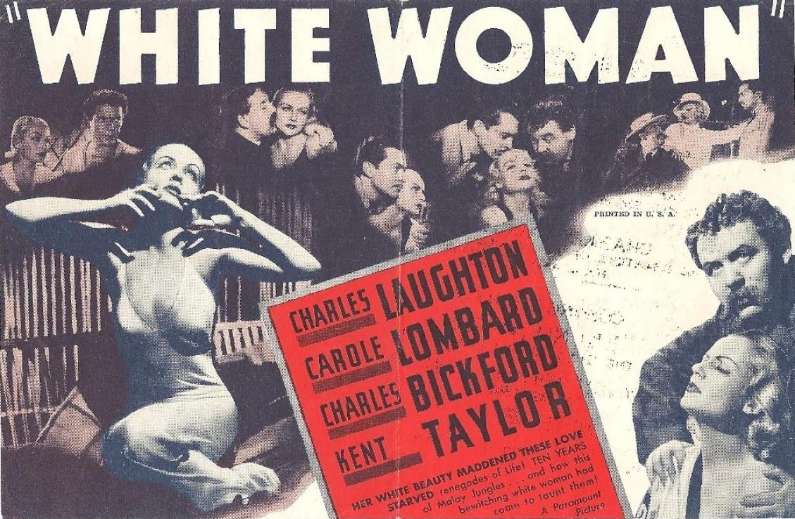 carole lombard white woman herald pathe cinema bombay back large