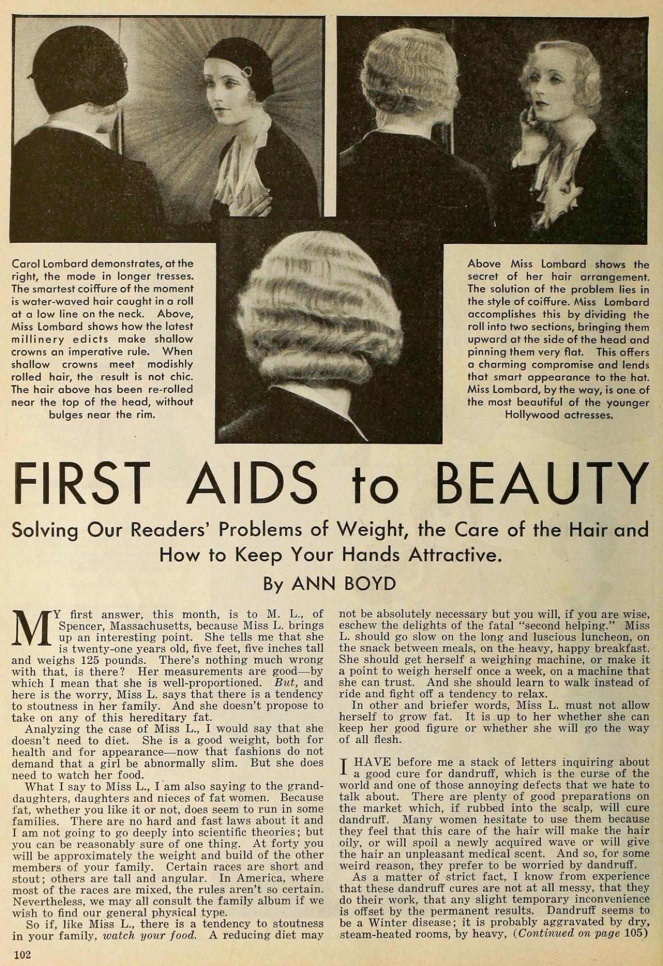 carole lombard the new movie magazine january 1931aa