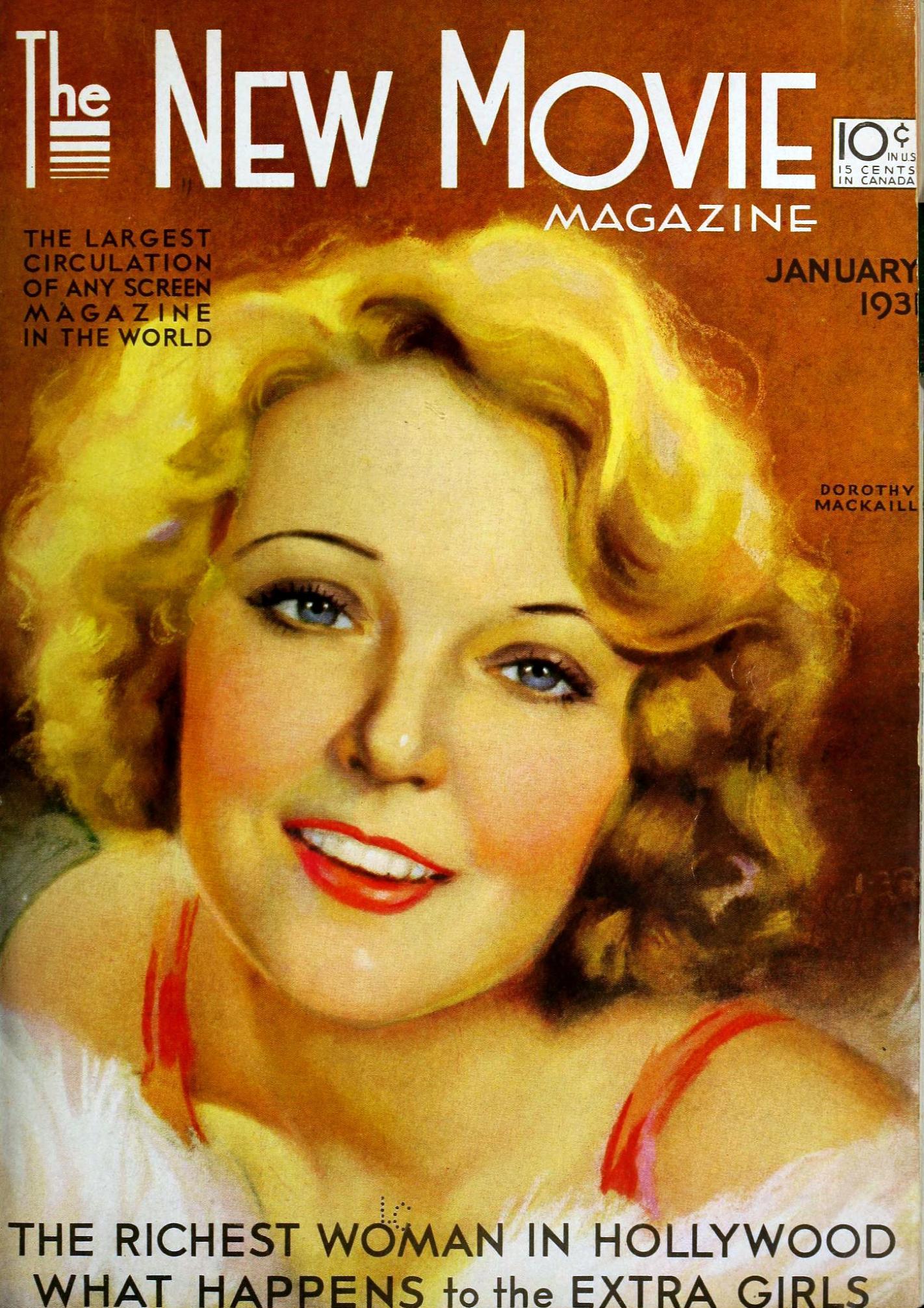 dorothy mackaill the new movie magazine january 1931a