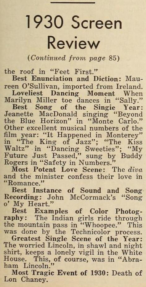 the new movie magazine january 1931ca 1930 in review
