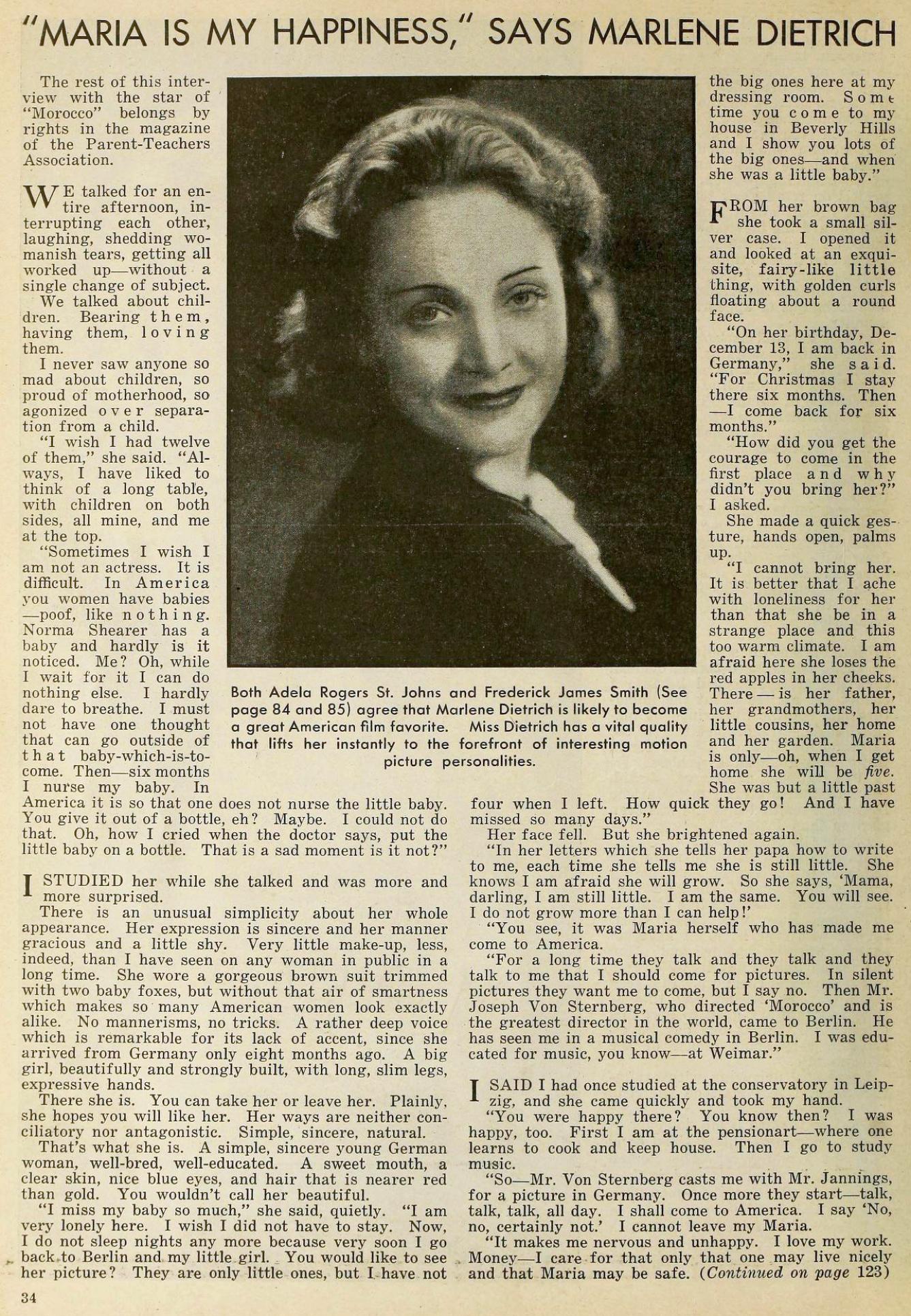 marlene dietrich the new movie magazine january 1931ca