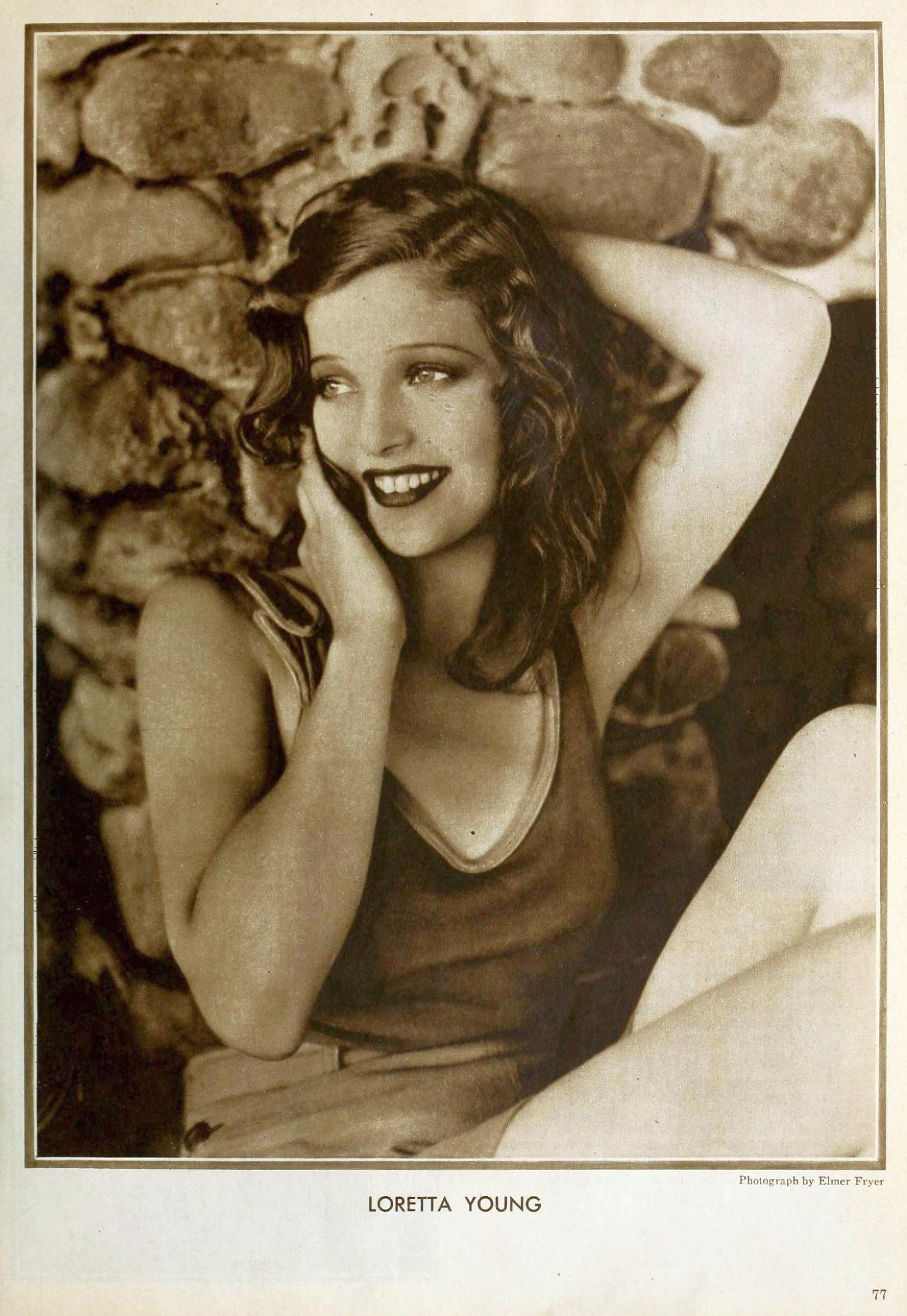 loretta young the new movie magazine january 1931aa