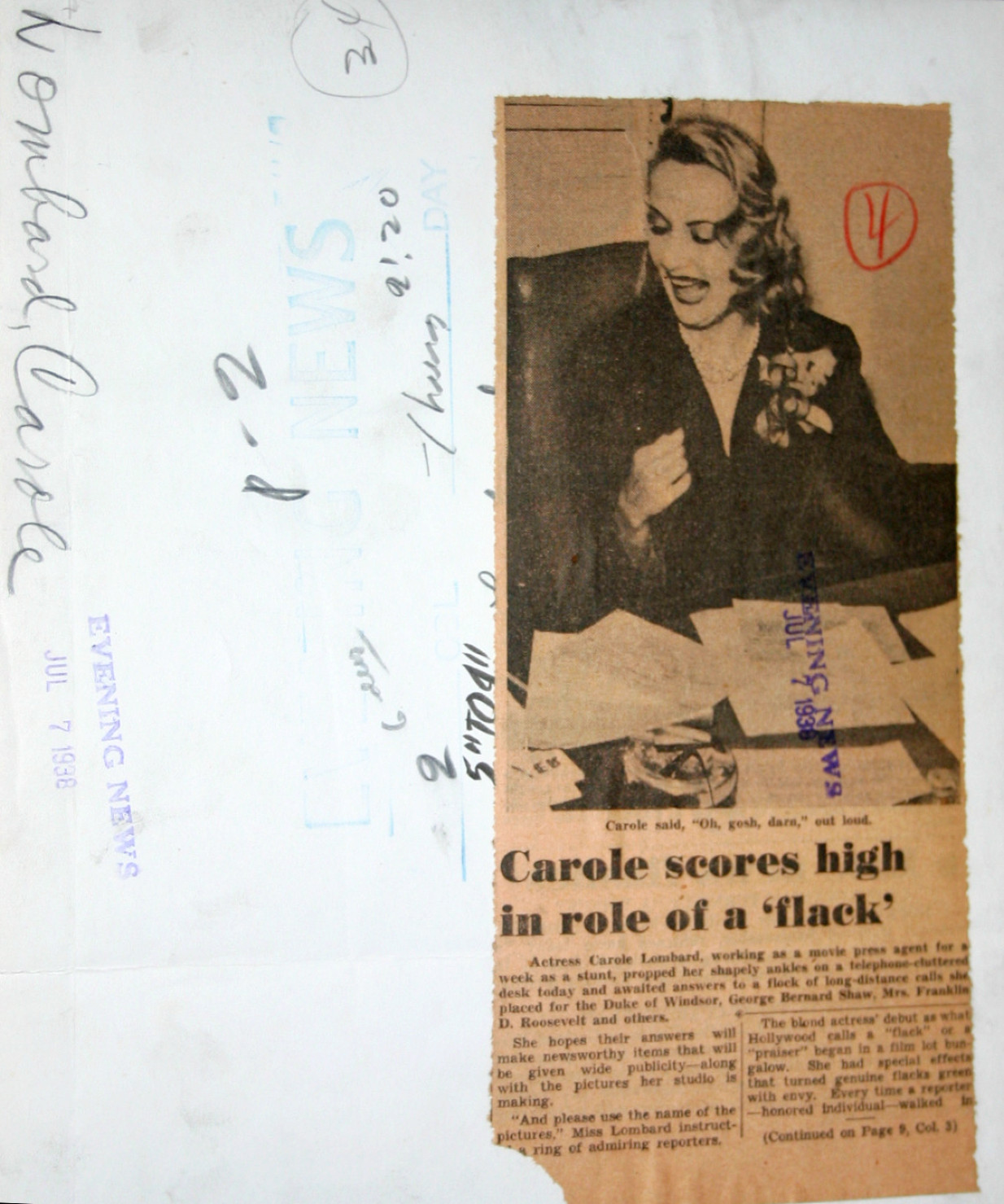 carole lombard publicity selznick 070738a evening news back