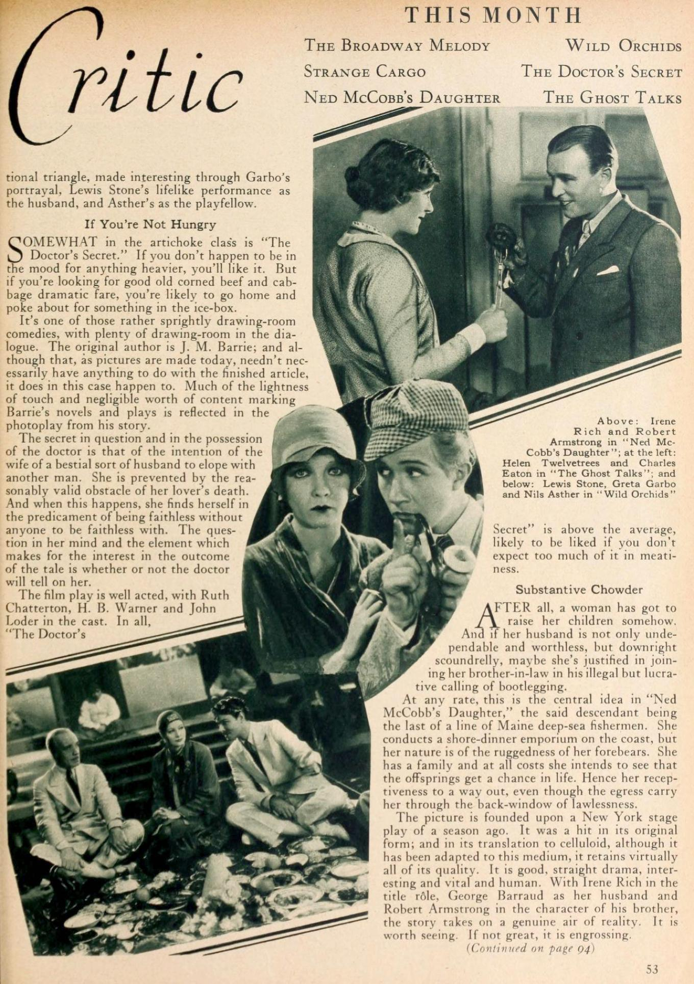 motion picture classic may 1929ma