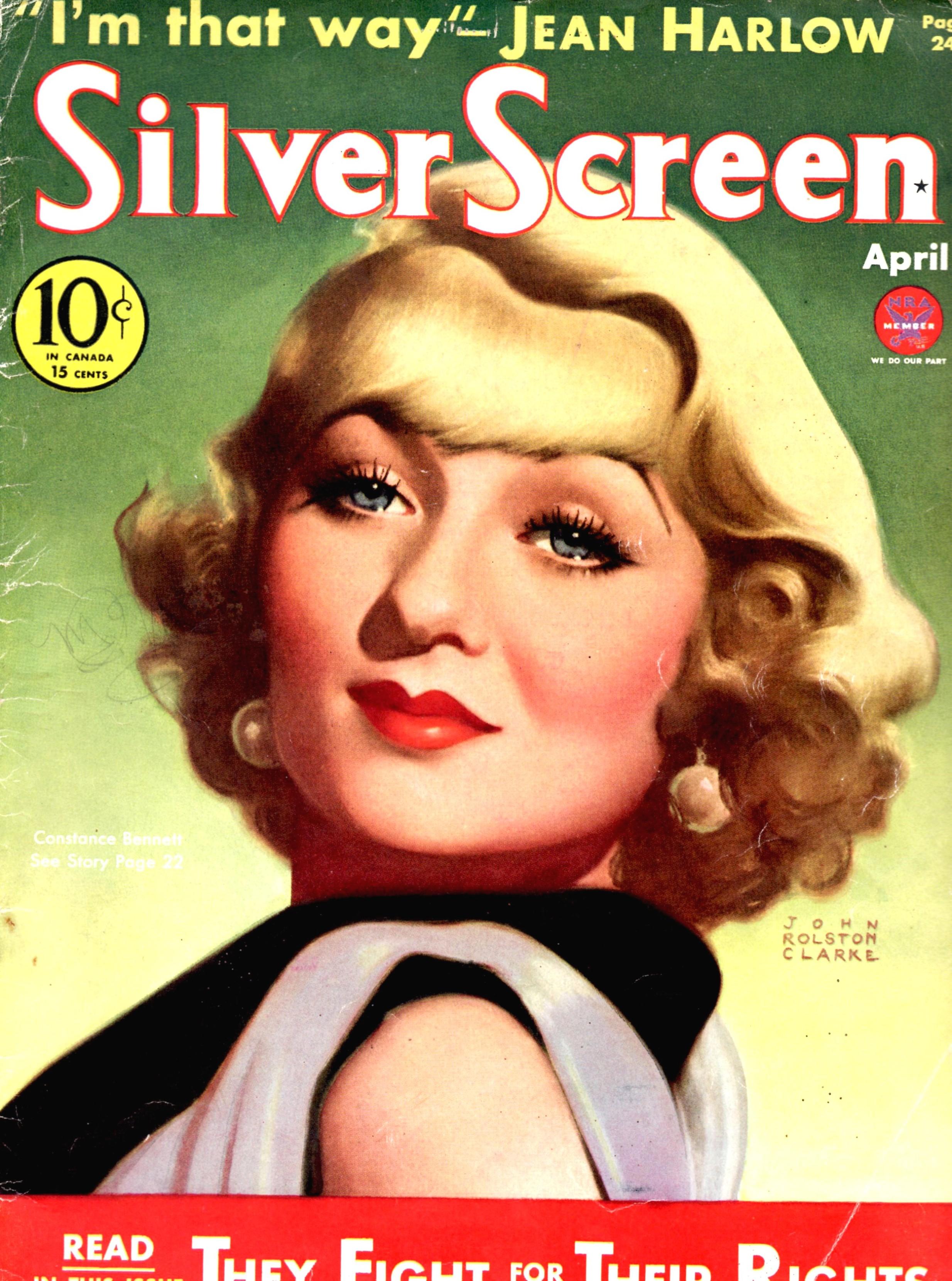 silver screen april 1934 constance bennett