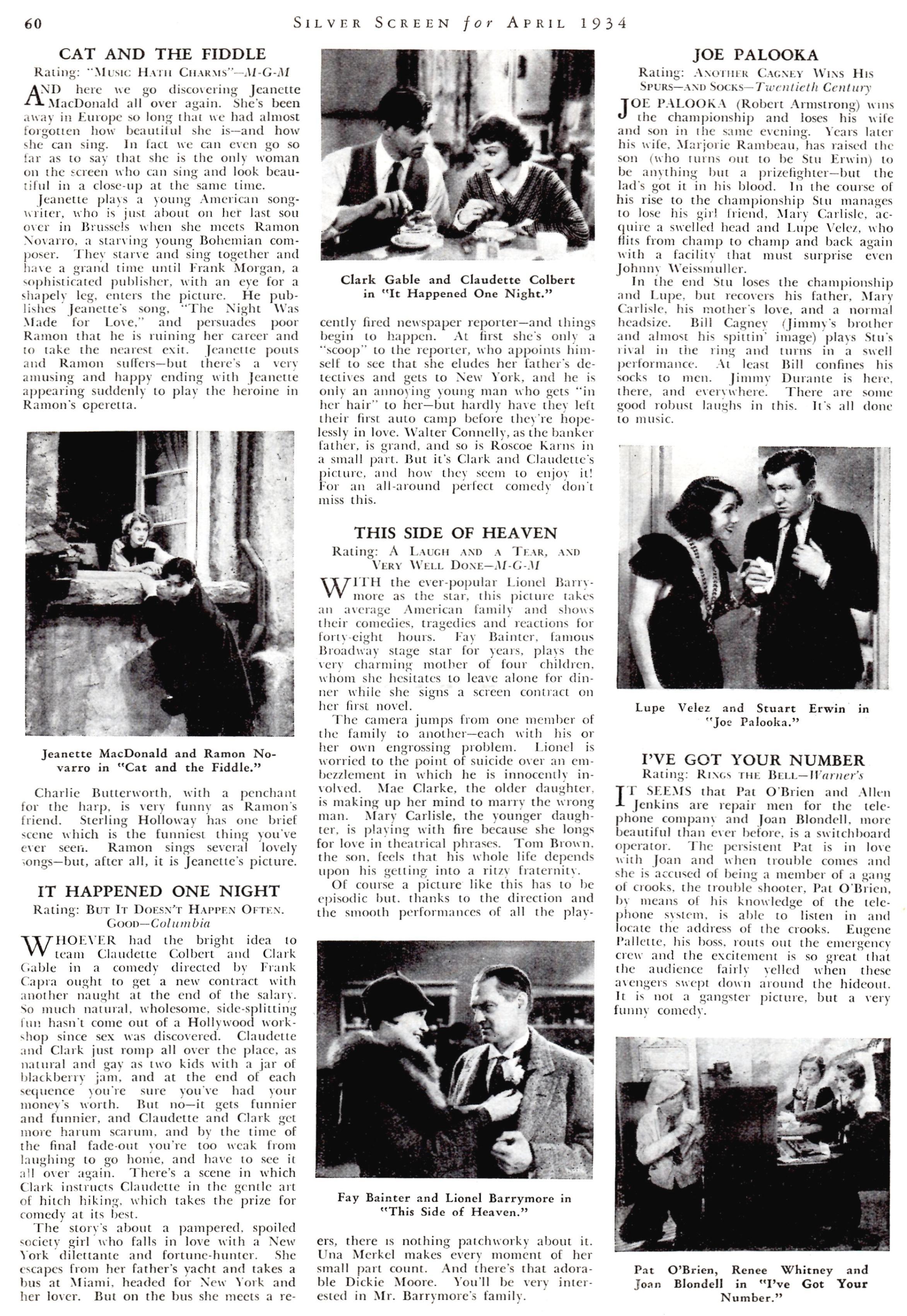 silver screen april 1934j