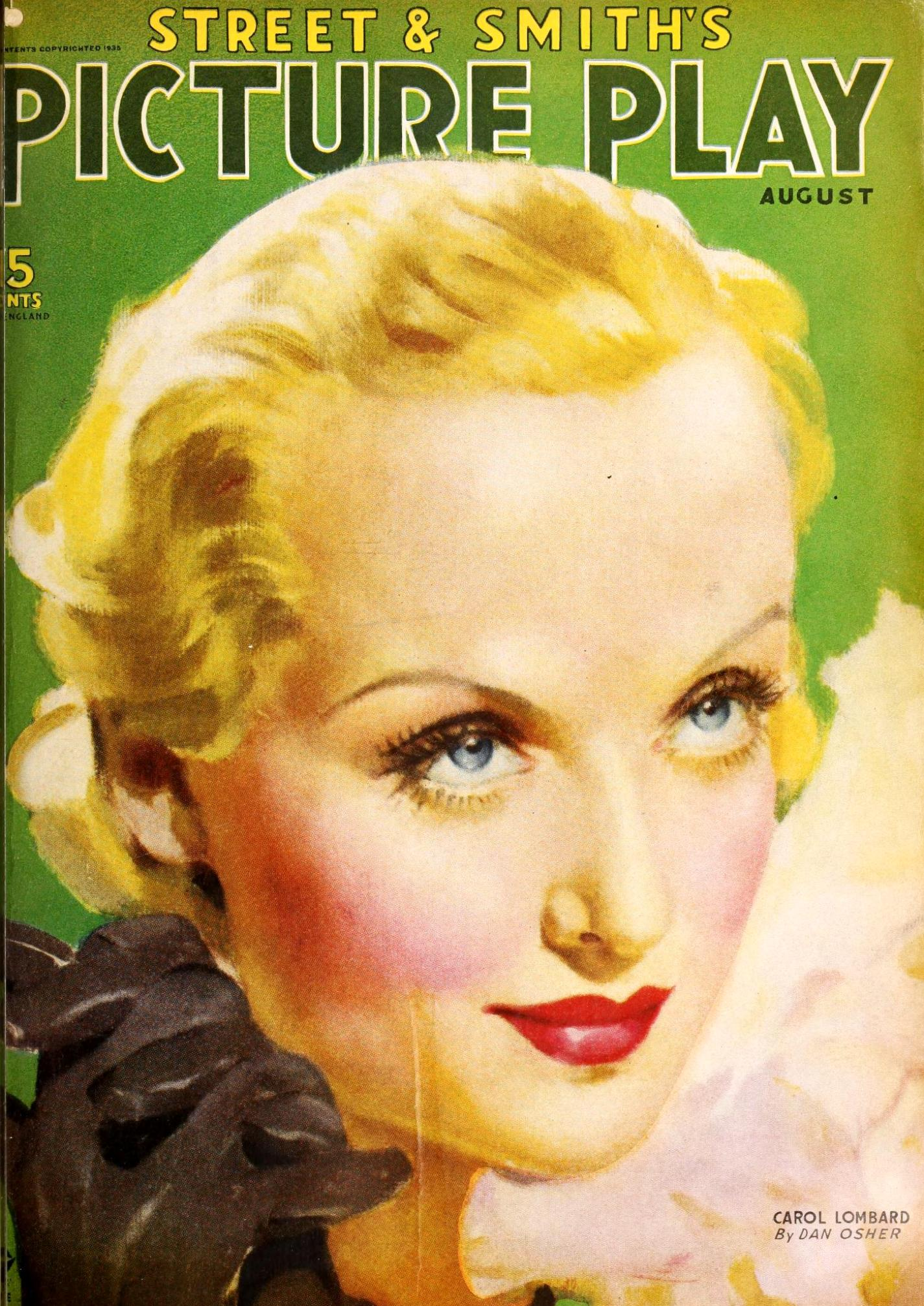 carole lombard picture play august 1935 cover large